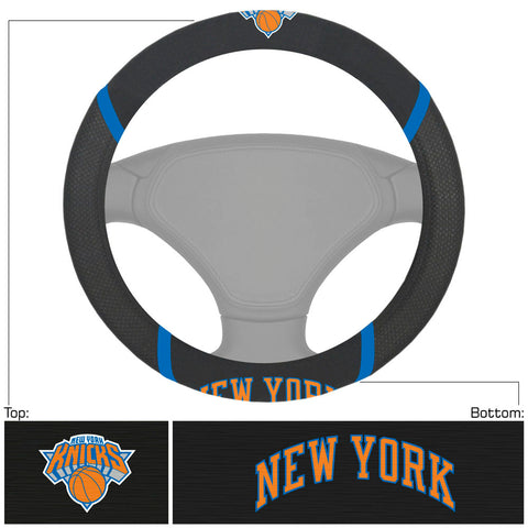 New York Knicks Faux Suede Steering Wheel Cover