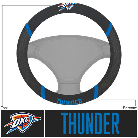 Oklahoma City Thunder Faux Suede Steering Wheel Cover