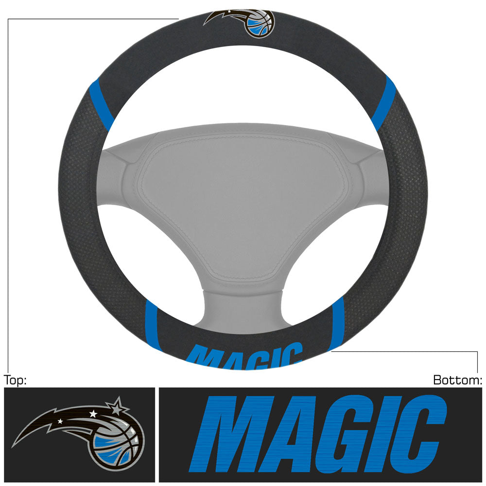 Orlando Magic Faux Suede Steering Wheel Cover
