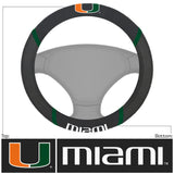 Miami Hurricanes Faux Suede Steering Wheel Cover