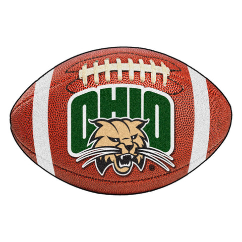 Ohio Bobcats Touchdown Football Area Rug