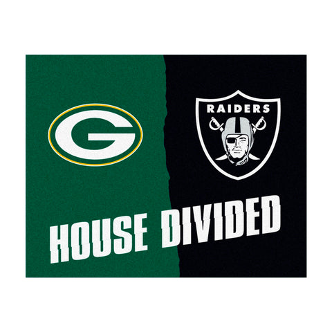 Green Bay Packers vs Oakland Raiders Rivalry Rug