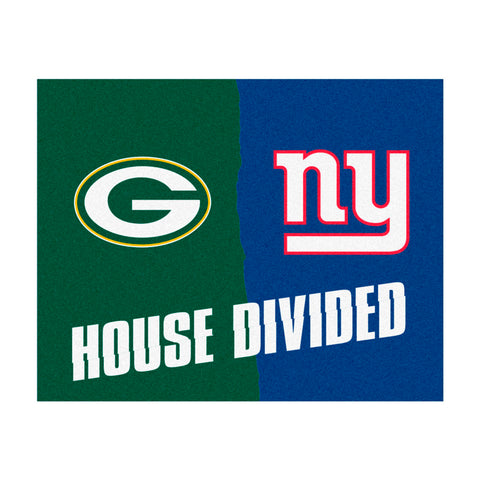 Green Bay Packers vs New York Giants Rivalry Rug