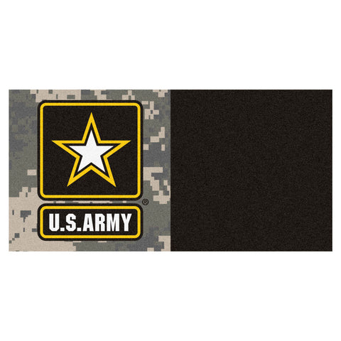 Army Black Knights Green/Black Team Proud Carpet Tiles