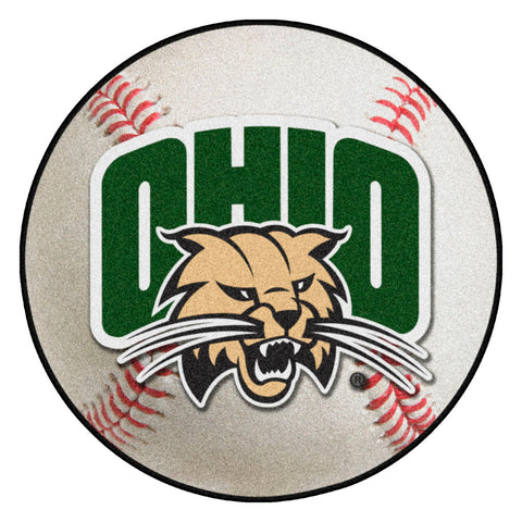 Ohio Bobcats Grand Slam Baseball Area Rug