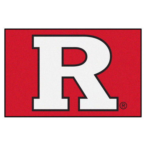 Rutgers Scarlet Knights Black Tufted Area Rug