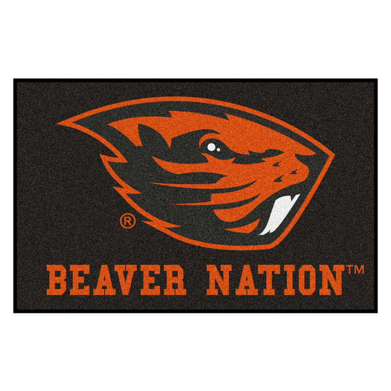 Oregon State Beavers Team Logo Accent Rug