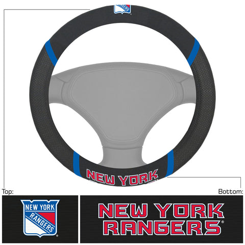 New York Rangers Faux Suede Steering Wheel Cover