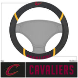 Cleveland Cavaliers Faux Suede Steering Wheel Cover in Car
