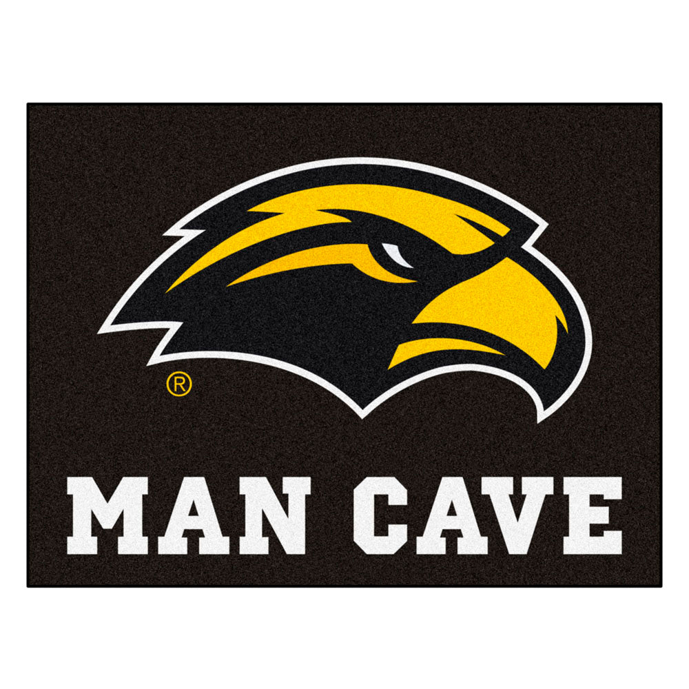 Southern Miss Golden Eagles Man Cave Area Rug