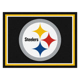 Pittsburgh Steelers 8x10 Plush Area Rug