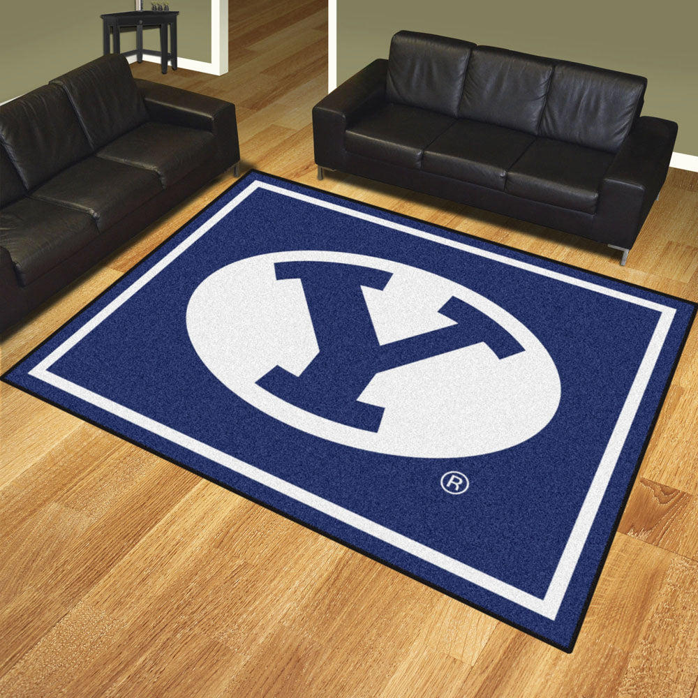 BYU Cougars 8x10 Plush Area Rug