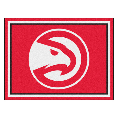 Atlanta Hawks 8x10 Plush Area Rug