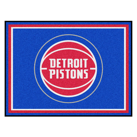 Detroit Pistons 8x10 Plush Area Rug