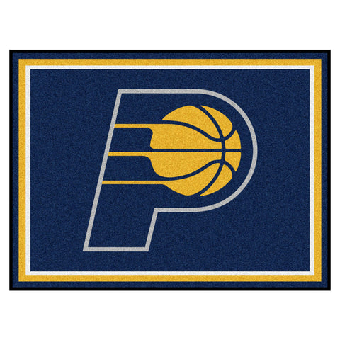 Indiana Pacers 8x10 Plush Area Rug