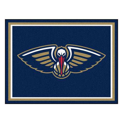 New Orleans Pelicans 8x10 Plush Area Rug