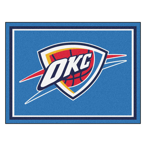 Oklahoma City Thunder 8x10 Plush Area Rug
