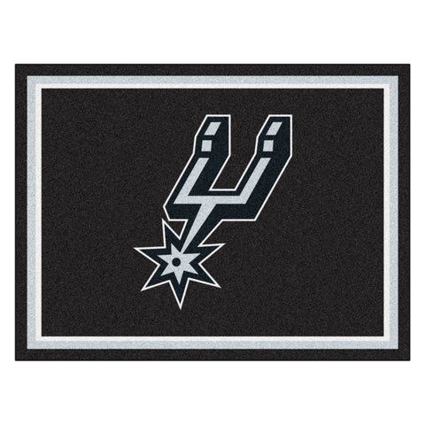 San Antonio Spurs 8x10 Plush Area Rug