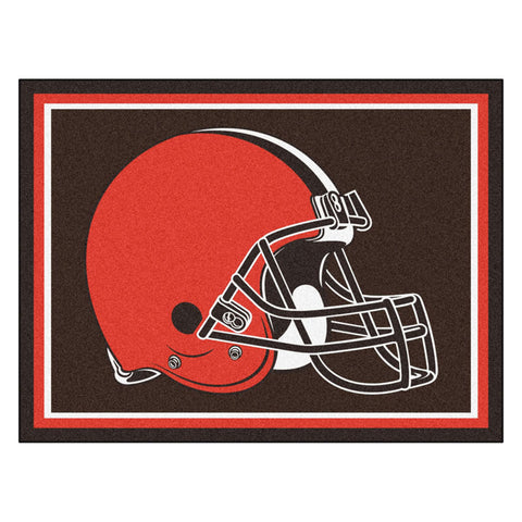 Cleveland Browns 8x10 Plush Area Rug