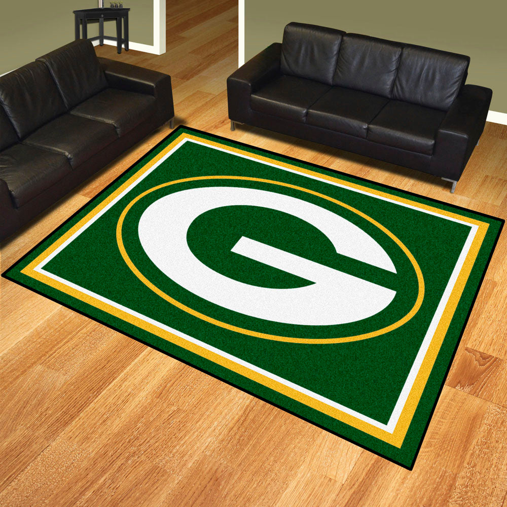 Green Bay Packers 8x10 Plush Area Rug