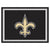 New Orleans Saints 8x10 Plush Area Rug