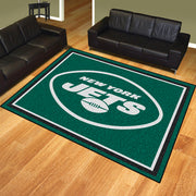New York Jets 8x10 Plush Area Rug