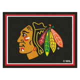 Chicago Blackhawks 8x10 Plush Area Rug