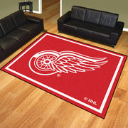 Detroit Red Wings 8x10 Plush Area Rug