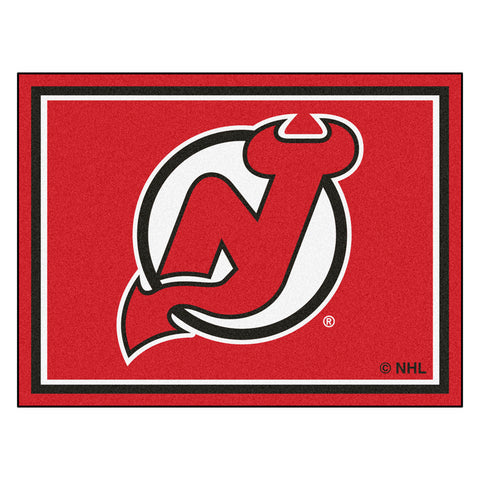 New Jersey Devils 8x10 Plush Area Rug