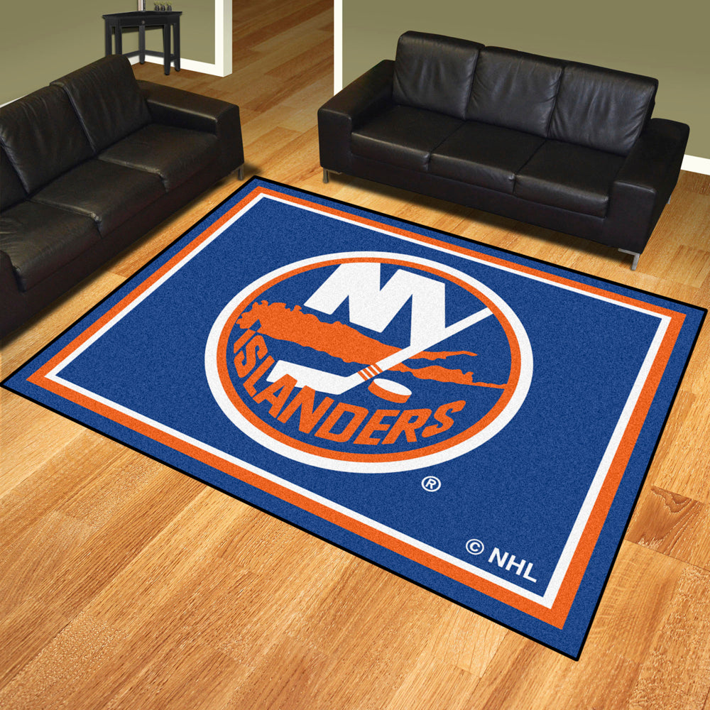 New York Islanders 8x10 Plush Area Rug