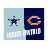 Chicago Bears vs Dallas Cowboys Rivalry Rug