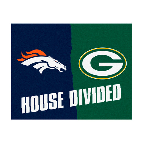 Denver Broncos vs Green Bay Packers Rivalry Rug