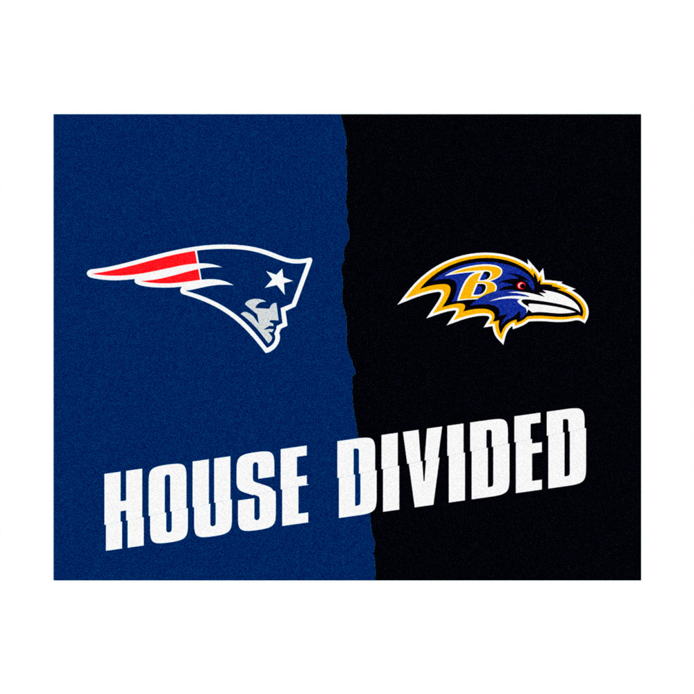 Baltimore Ravens vs New England Patriots Rivalry Rug