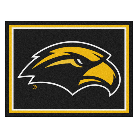 Southern Miss Golden Eagles 8x10 Plush Area Rug