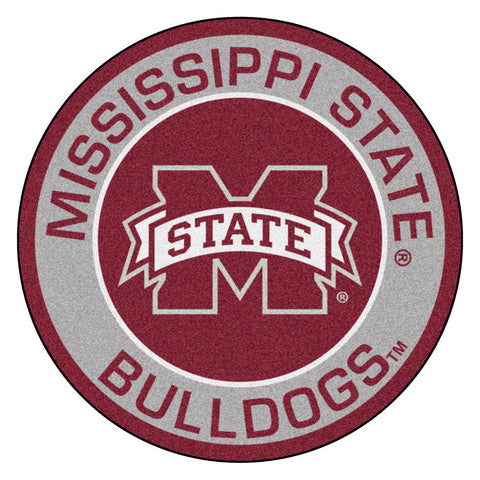 Mississippi State Bulldogs Team Emblem Throw Rug