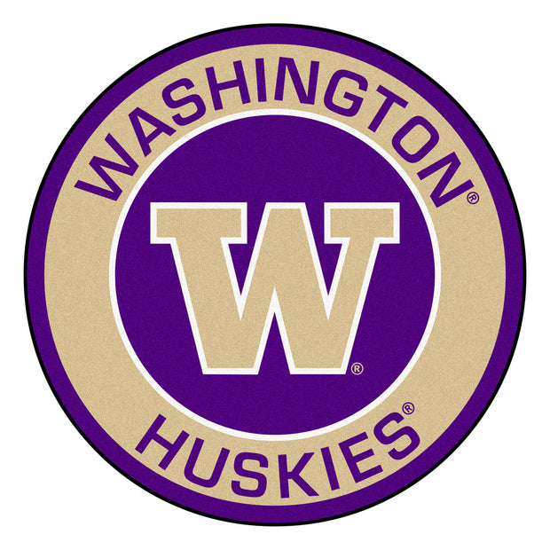 Washington Huskies Team Emblem Throw Rug