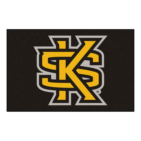 Kennesaw State Owls Black/Gold Tufted Area Rug
