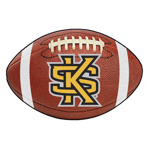 Kennesaw State Owls KS Logo Touchdown Football Area Rug