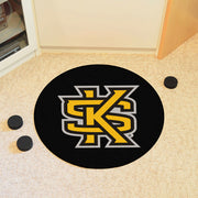 Kennesaw State Owls Hockey Puck Area Rug in Room
