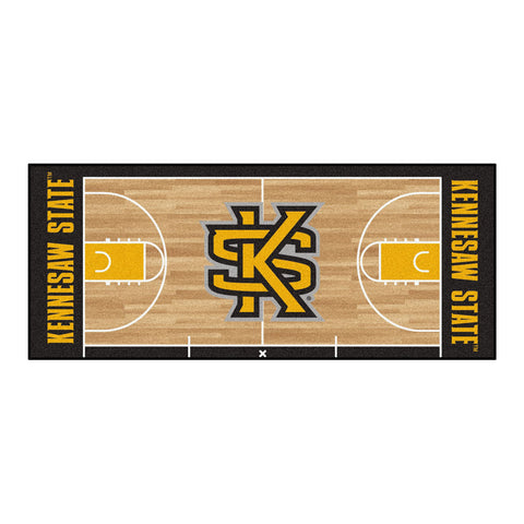 Kennesaw State Owls Basketball Court Runner Rug