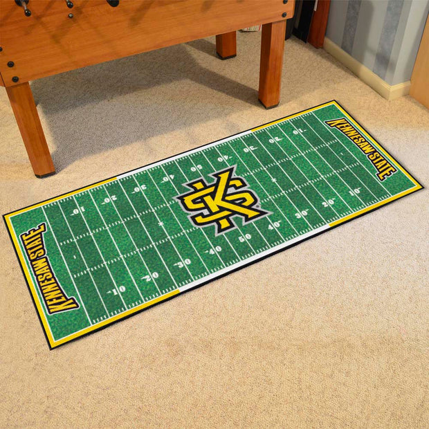 Kennesaw State Owls Gridiron Football Runner Rug on Floor