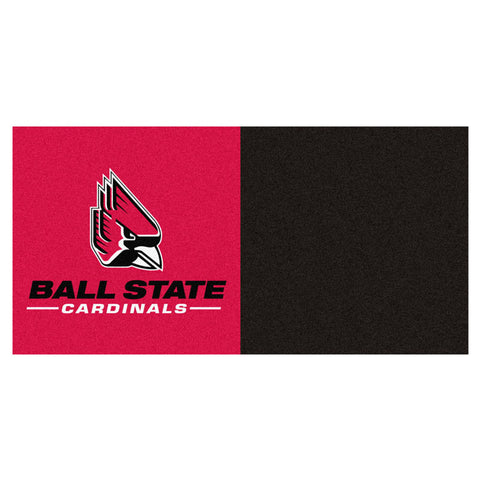 Ball State Cardinals Red/Black Team Proud Carpet Tiles