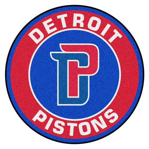 Detroit Pistons Team Emblem Throw Rug