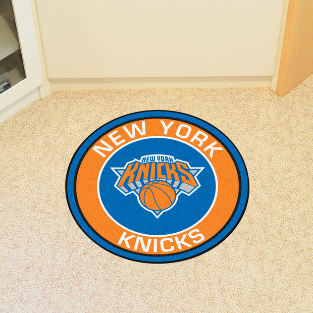 New York Knicks Team Emblem Throw Rug in Room