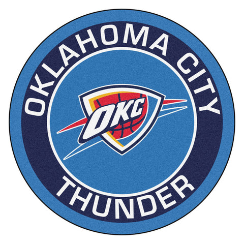 Oklahoma City Thunder Team Emblem Throw Rug
