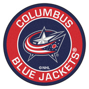Columbus Blue Jackets Team Emblem Throw Rug