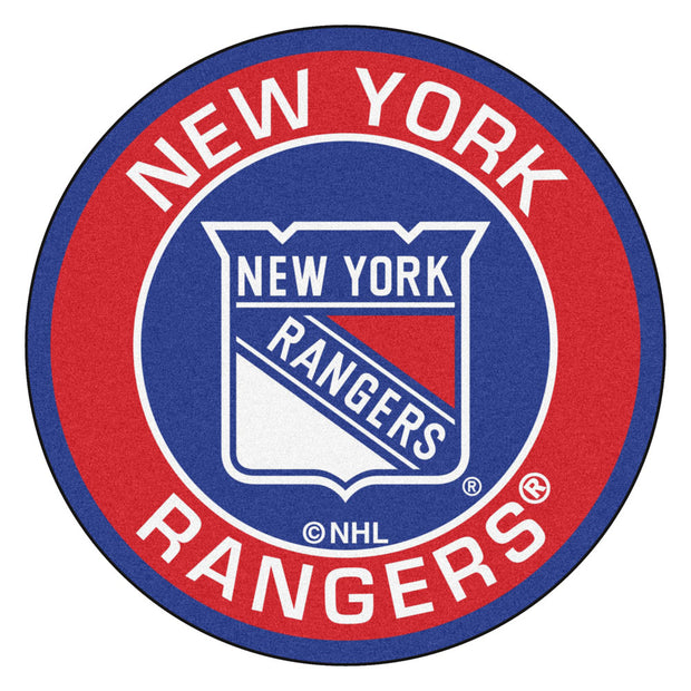 New York Rangers Team Emblem Throw Rug