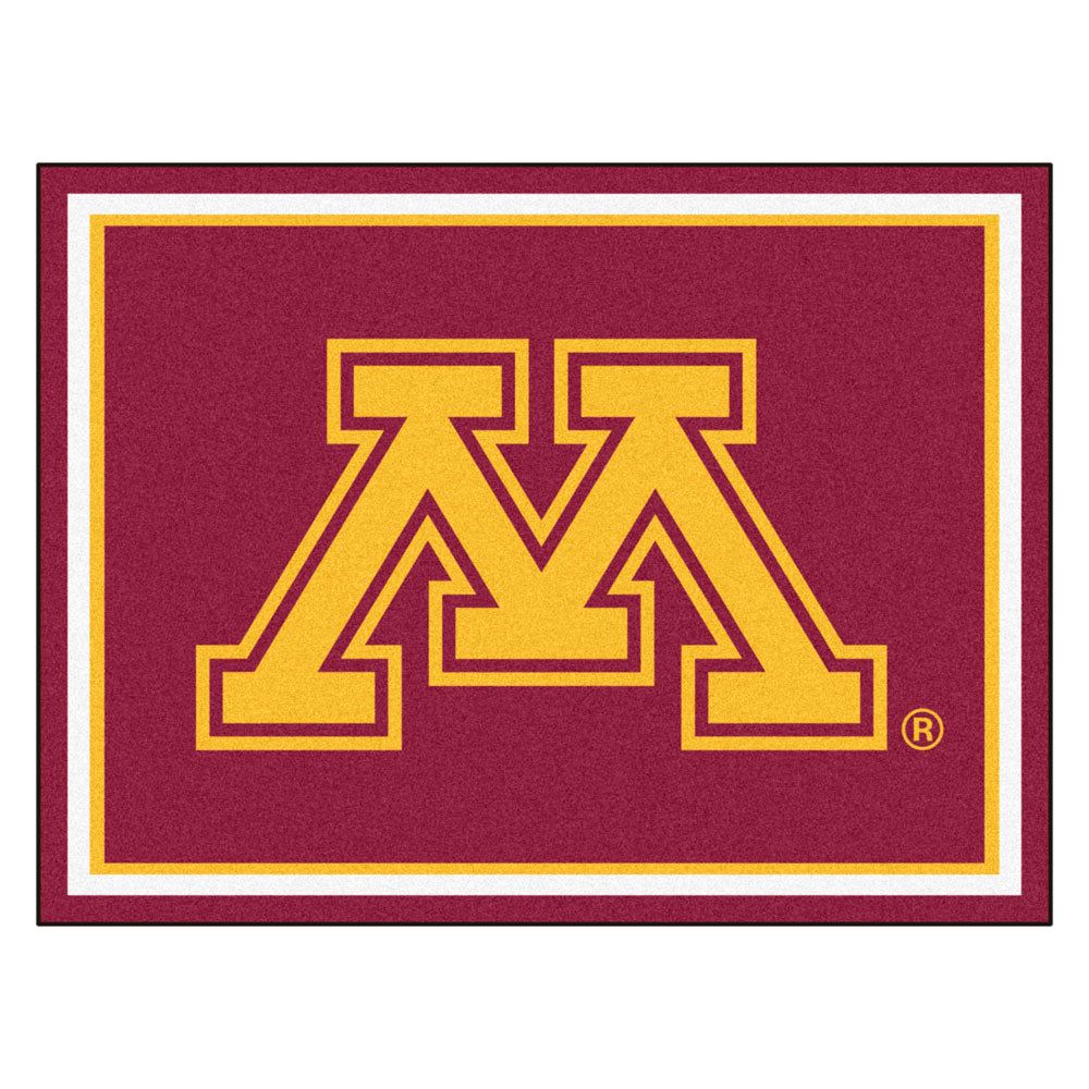 Minnesota Golden Gophers 8x10 Plush Area Rug