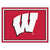 Wisconsin Badgers 8x10 Plush Area Rug
