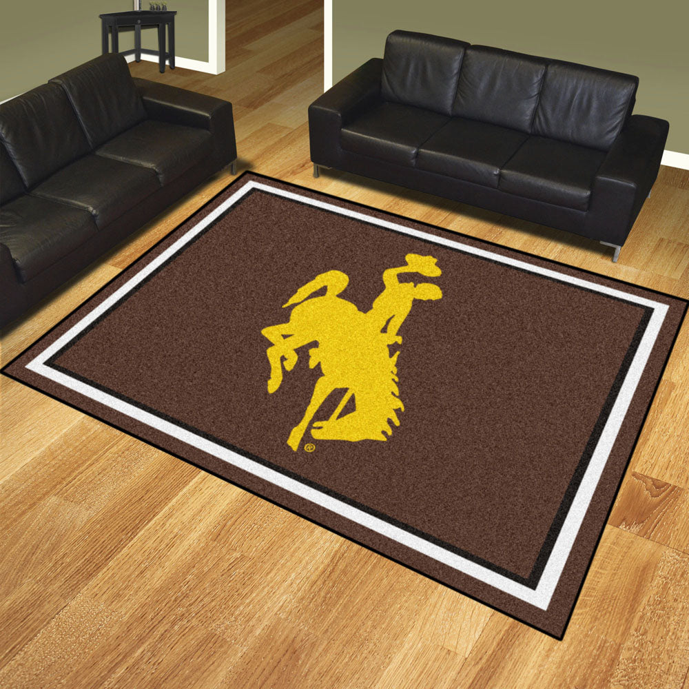 Wyoming Cowboys 8x10 Plush Area Rug